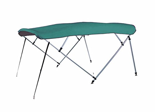 Amazing Deal 7 oz Teal 4 Bow Square Tube Boat Bimini TOP with Running Light Cutout Sunshade for BASS...