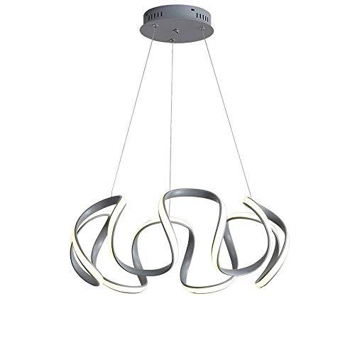 Candelabro Minimalista Arte Moderno De Aluminio Lámpara Colgante Restaurante Dormitorio Estudio Sala De Estar Luz De Techo Lámpara Colgante Led Creativa Regulable Luminaria Cálida Luz De Suspensión 4