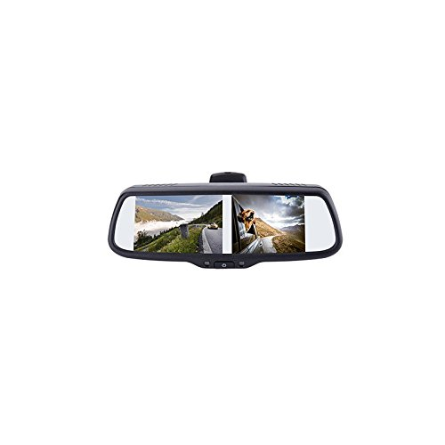 EchoMaster PMM-7333-PL 7.3 inch Factory Mount Rearview or Sideview Mirror Monitor with 3 Video INPUTS, 3 TRIGGERS and Adjustable Parking Lines