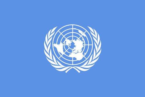 Michael & Rene Pflüger Barmstedt 8,4 x 5,4 cm Autoaufkleber Fahne der UNO Aufkleber Sticker fürs Auto Motorrad Handy Laptop