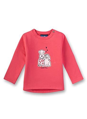 Sanetta Baby-Mädchen Sweatshirt, Rot (Strawberry 3458), 74 (Herstellergröße: 074)