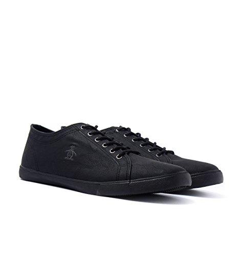 Penguin Mens Brewton Plimsolls Sneakers Black 10