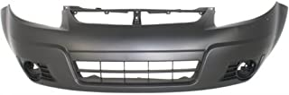 Front Bumper Cover Compatible with 2007-2012 Suzuki SX4 Primed (10-12 with Cover Extension) Hatchback