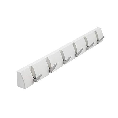 IADZ Gancho adhesivo, ganchos plegables Ganchos de línea de decoración de pared creativa Gancho de línea de baño de puerta de porche Gancho de línea de baño Perchero de sombrero Negro