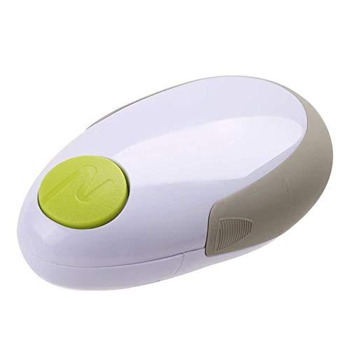 XUENING Abrelatas eléctrico Abrelatas One Touch Jar abridor de Botella práctico Puede Jar abridor automático de Herramientas de Cocina Abridores (Color : Blanco)