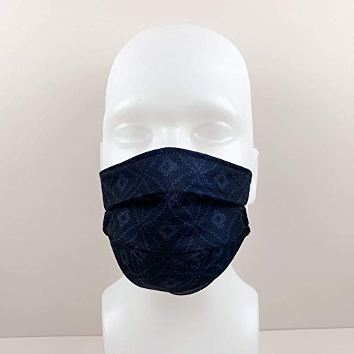 Mund-Nasen-Maske Behelfsmaske 2-lagig Marine Öko-Tex