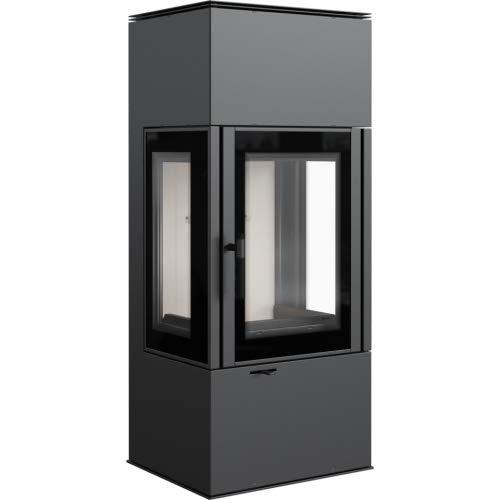 3-Scheiben-Kaminofen Kratki THOR 8 Kamin Ofen 8 kW Holzofen Bauart A1 Nein, Rauchrohr-Set Ja