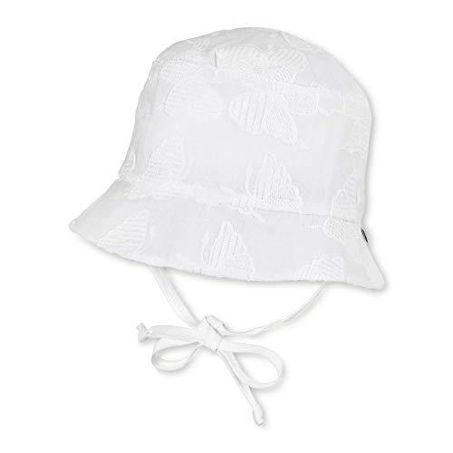 Sterntaler Baby Mädchen Sommerhut Sonnenschutz-Hut UV 15+, Größe:41, Farbe:Weiss (500)