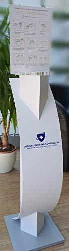 Colonnina Design porta dispenser gel disinfettante/igienizzante mani - Made in Italy
