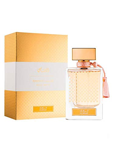 Qasamat Morhaf Unisex EDP - Eau De Parfum 65 ML (2.1 oz)   Oriental Alchemy   Intoxicating Heart w/Damask Rose & Geranium on a Oriental Bed of Precious Woods   Royal & Luxurious   by RASASI Perfumes