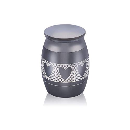 Kleine Urn Kleine Decoratie Souvenir Mini Crematie Tank Parfum Pot Familie Begrafenis Haar Gedenkteken Roestvrijstalen Aspot Zwart,Three hearts
