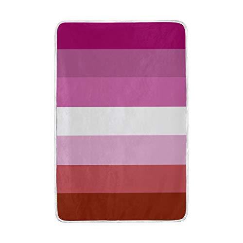 UWSG Lesbian Alternate LGBT Pride Flags Throw Blanket 60' x 90' Lightweight Cozy Couch Blanket Bed Blanket