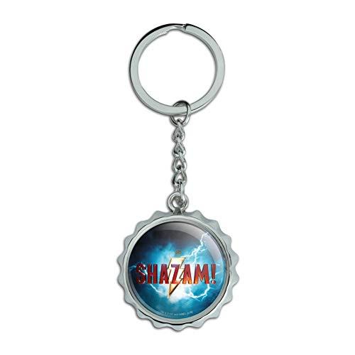Shazam! Schlüsselanhänger mit Film-Logo, verchromtes Metall