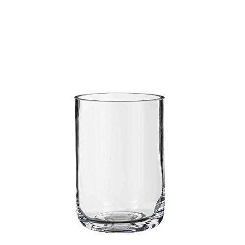 Casa Vivante Vase Glas transparent Schwere Optik – Blumenvase – Deko-Vase - Glasvase klar (22 x 15 cm)