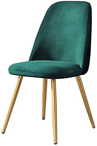 Sillas - Silla de comedor casual, silla de mesa de respaldo de ocio nórdico Silla de asiento suave patas de metal Silla cómoda 45 cm, gris 2