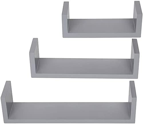 HDHUIXS Convenient Set of 3 Floating Display Shelves Finally resale start Books Ledge Spring new work one after another
