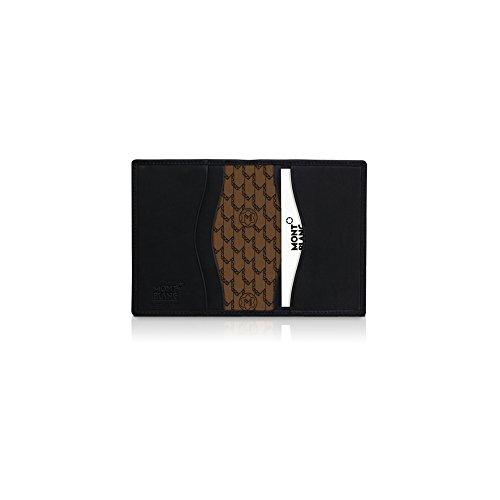Montblanc diarios y notas tarjetero negro piel–106813
