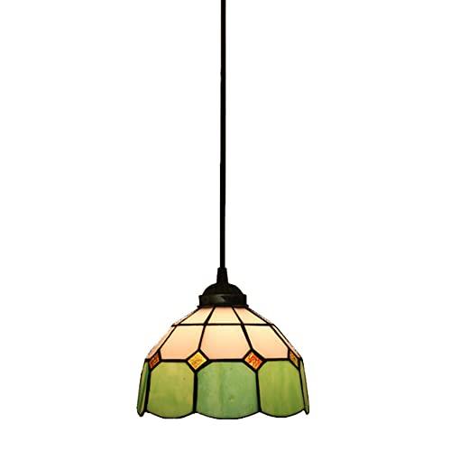 FAJOPQW Lámpara Colgante Vintage De Bohemia con Techo De Vidrieras Lámpara Colgante Comedor Cocina Isla Pasillo Araña Iluminación Interior