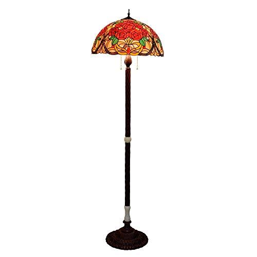 50CM Stained Glass amplio salón comedor Habitación Lámpara de Abogados de Estados Unidos Tiffany creativo Rose Jade Tetera Plancha base roja de bronce Villa Pasillo clásico del hotel Jade antiguo de p