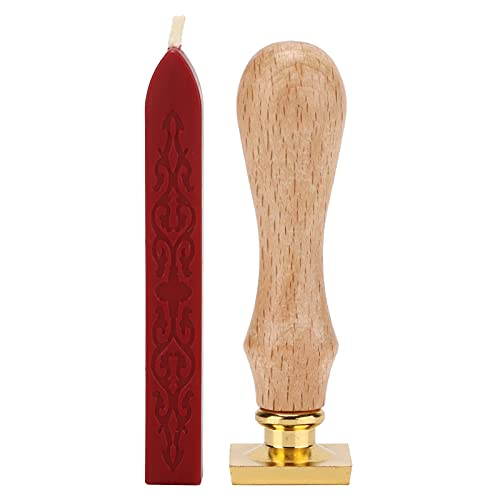 BOTEGRA Kit de Sello de Cera, Kit de Sello de Cera Transparente Exquisito para Invitaciones para empaque de Regalo(Vino Tinto)