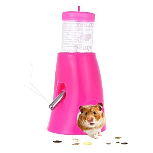 Yiteng ハムスター ボトル 給水器 リス モモンガ 水飲み器 水漏れ防止機能付き 便利 取り付け簡単 小動物用品 飼育ケージ内装 小動物の隠れ家 プラスチック製 (パープル)