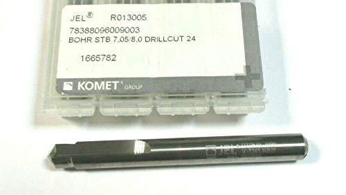 LEBONDO - 1 Stück Vollhartmetall - Stufenbohrer 90° Ø7,05/8,0 mm STB7,05/8,0 mit Innenkühlung - original von KOMET