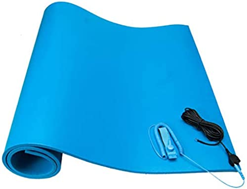 Supreme ESD Safe Table Mat and Flooring For Assembly Electronic Item Mat Pvc Rubber Mat 2 5 X 6 5 Feet Blue