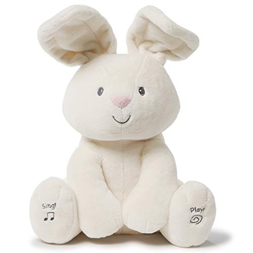 Baby GUND Animated Flora The Bunny Stuffed Animal Plush, Cream, 12'