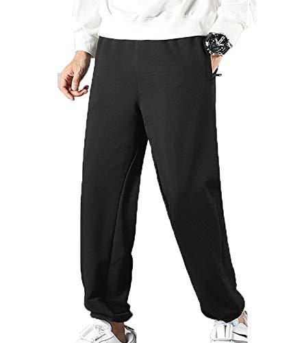 ATHIHOOD Herren Camo Hose Baumwolle Jogginghose Trainingshose Sporthose Fitnesshose Sweatpants M-6XL (Schwarz,6XL)