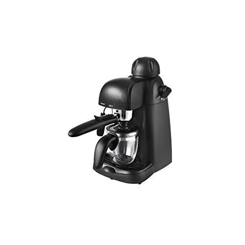 Team Kalorik TKG EXP 1000 Espresso-Siebträgermaschine inkl. Glaskanne für bis zu 4 Tassen, Kunststoff, Glas, Metall, Schwarz