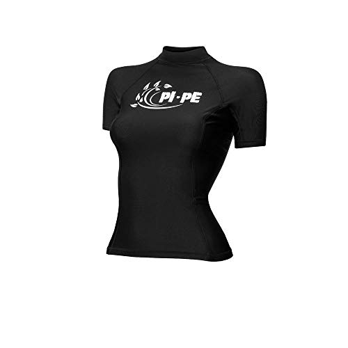 PI-PE Rash Guard Damen S/S Short Sleeve Black S
