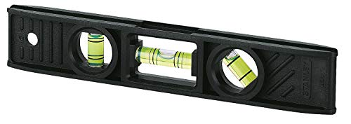 Stanley Torpedo waterpas (ABS-kunststof, elk 1x horizontale/verticaal/45° libel, met ophangoog) 0-42-294