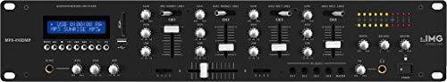 IMG Stage Line Mpx de 410dmp estéreo de DJ mesa de mezclas con reproductor de mp3integrado y receptor Bluetooth Negro