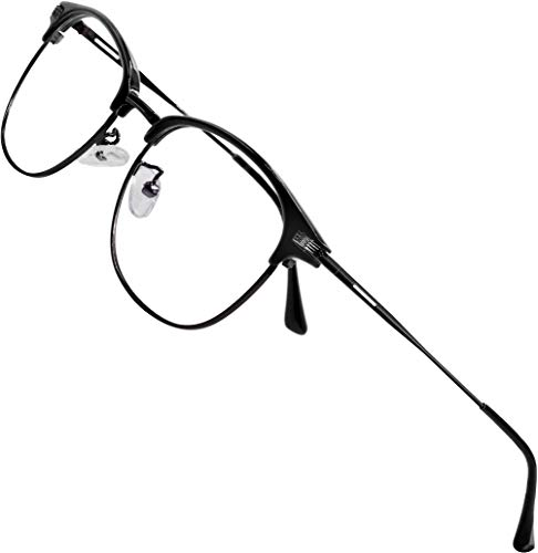 ATTCL Gafas unisex con Armazón metal para Protección contra Luz Azul, Anti Fatiga por Deslumbramiento 5054 Negro-TODAS