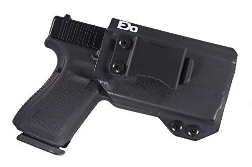 Fierce Defender IWB Kydex Holster Glock 19 23 32 w/Olight PL-Mini Valkyrie The Winter Warrior Series -Made in USA- GEN 5 Compatible (Black)
