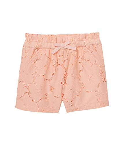 Janie and Jack Girl's Peach Lace Shorts (Toddler/Little Kids/Big Kids) Orange 8 (Big Kids)