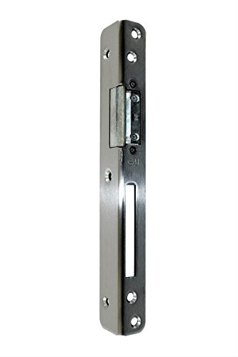GU BKS Secury Sicherheits Haustür Schließblech Edelstahl 250x30x25x3mm mit AT-Stück verstellbar DIN Rechts