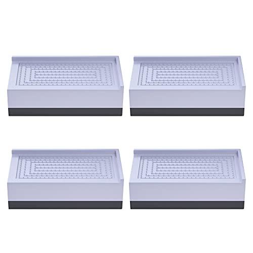 conpoir Lot de 4 Coussinets de Pieds pour Lave-Linge Coussinets Anti-Vibrations carrés Coussinets Anti-dérapants Anti-Chocs et antibruit réglables en Hauteur pour Lave-Linge Sèche-Linge Meubles de