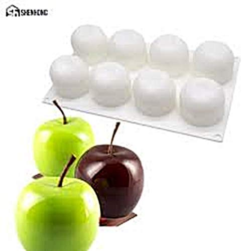 Apple Shaped 3D Silicone Mould sugarcraft soap Candle Sweet Mousse Cupcake