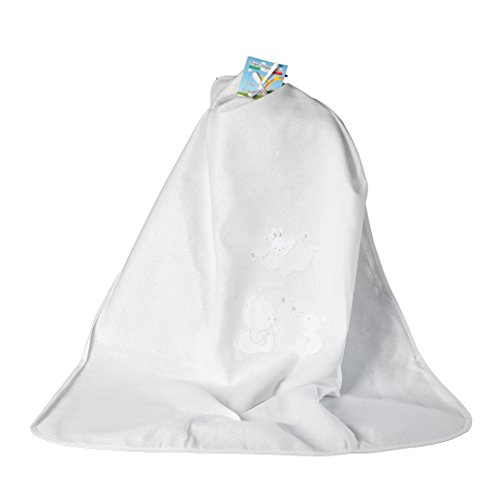 Decke Kinderbett Kinderwagen Puro Baumwolle Piqué Mein kleines Happy Bear 75x 95cm weiß