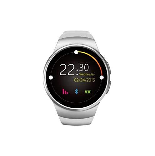 Smart Armband Waterdichte Fitness Bluetooth Telefoon Horloge Bel Online Hartslag Sport Stappenteller Smart Horloge, Kleur: wit