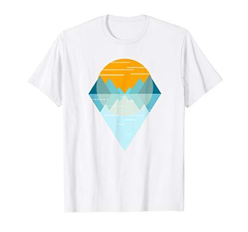 Sonnenuntergang Berge und Meer Landschaft T-Shirt Geschenk