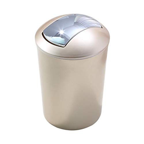 Bote de Basura Papel de desecho Creativo Inodoro Aseo Cocina Sala de Estar Hogar Bote de Basura Bote de Basura Cubo de Almacenamiento Bote de Basura Humano Simple (Color : Gold, Size : M)