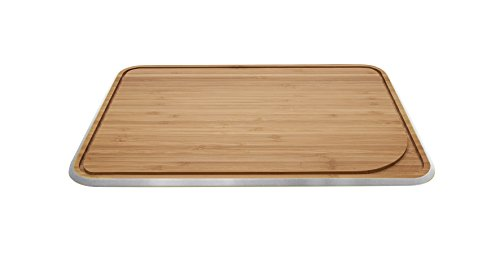 Pebbly NBA048 Planche à Découper Gris Métallique 25 x 17 cm