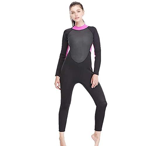 HYZXK Traje de Neopreno para Cuatro Estaciones de 3 mm de Longitud Completa para Mujer, Traje de Neopreno de Buceo para Surf/natación/Deportes acuáticos para Adultos (tamaño: Grande)
