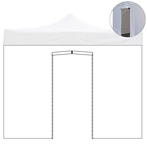 EverGreen Telo Laterale 4,5x2mt PVC con Porta avvolgibile per Gazebo 4,5x3mt 9011/4