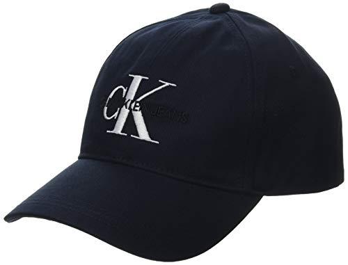 Calvin Klein Jeans Herren Ckj Monogram Baseball Cap, Blau (Navy Cfe), One size (Herstellergröße: OS)