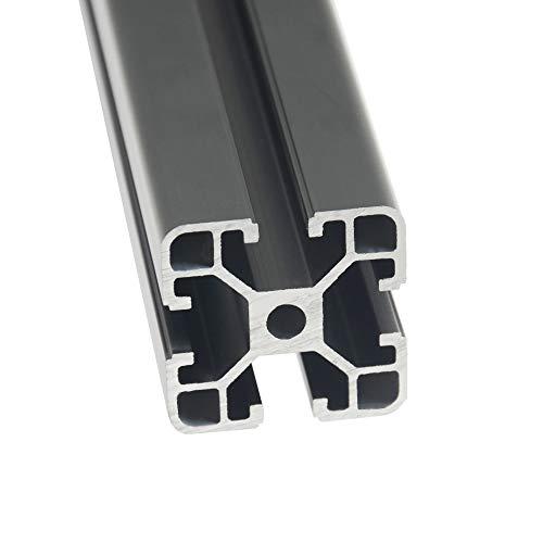 Iverntech 1 pezzo 400 mm 4040 lineare anodizzato, conforme allo standard europeo, estrusione del profilo in alluminio nero con fessura da 8 mm della serie 40 per stampanti 3D