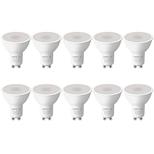 LE GU10 LED, 5.2W 400lm LED Leuchtmittel, 2700K warmweiß Birne GU10 Lampe ersetzt 50W Halogenlampen, 120° Strahlwinkel Reflektorlampen, 10 Stück