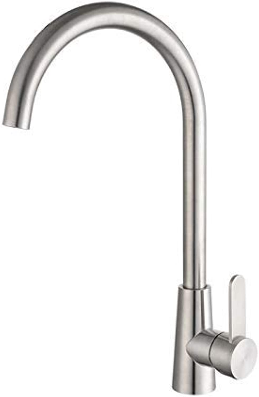 SEBAS Home Wasserhhne Küchenarmatur Edelstahl Waschbecken Sink Warmes Und Kaltes Wasser Mischventil Becken Wasserhahn